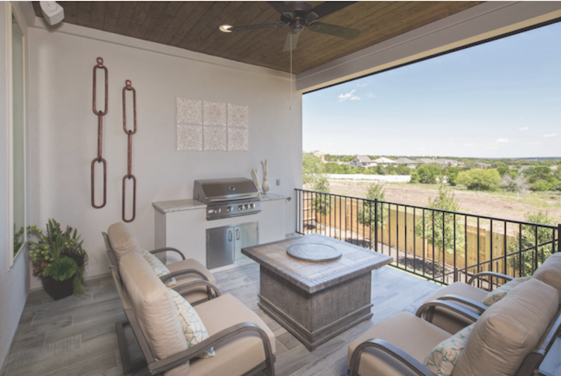 Trendmaker Homes Rancho Sienna provides covered outdoor living spaces for residents