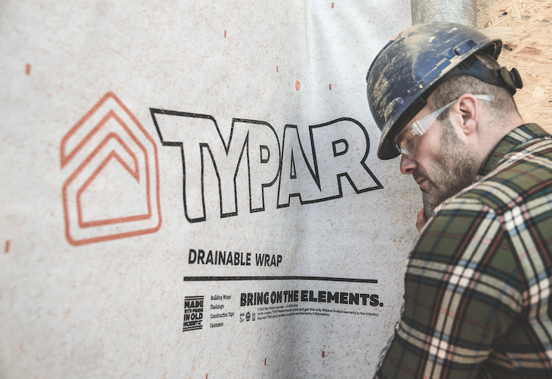 Typar's Drainable Wrap building weather protection system
