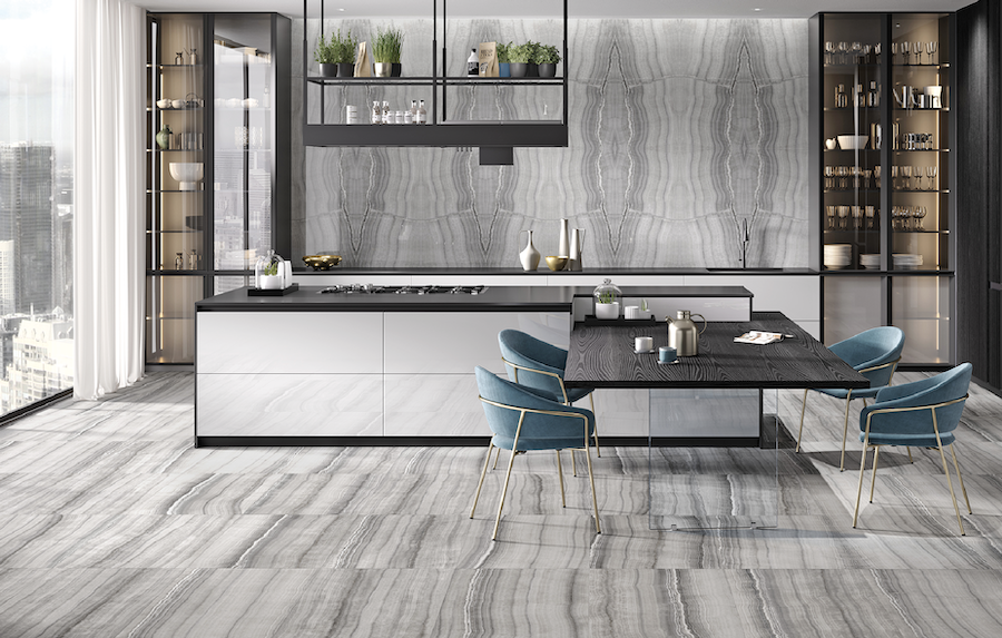 Walker Zanger's Barcelona Collection of tile has an onyx look