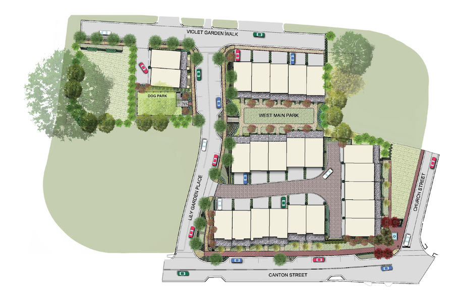 West Main Townhomes site plan