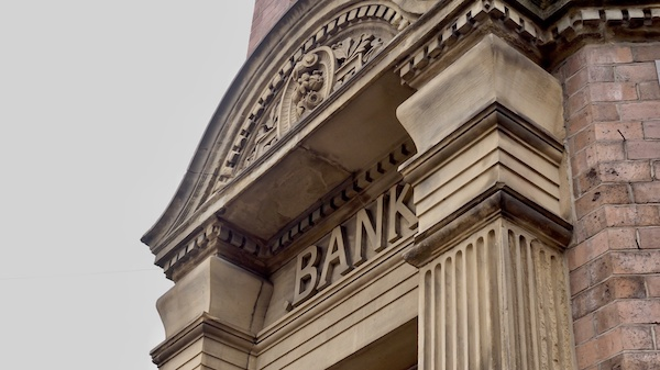 Bank outside exterior