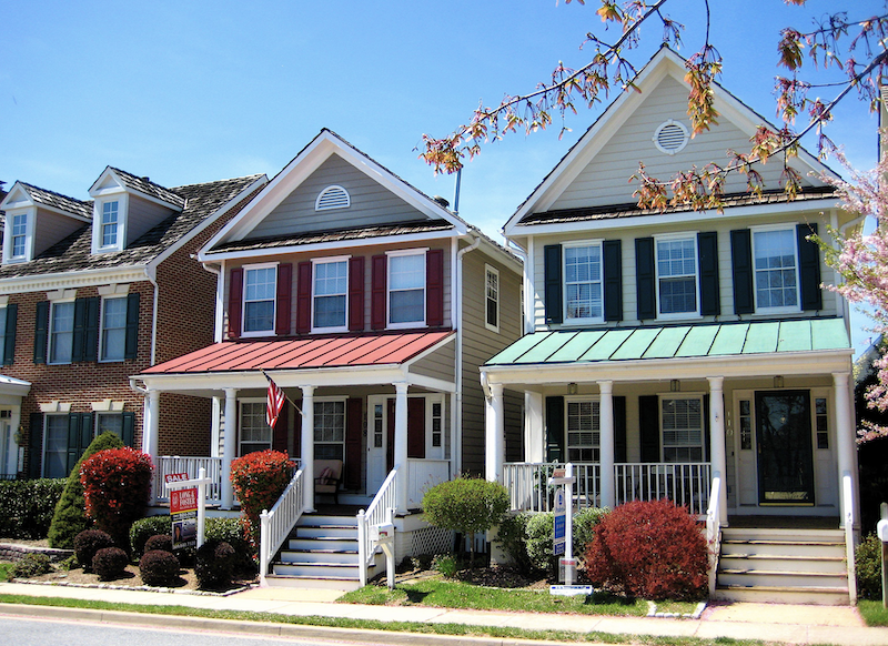 homes in the development of Kentlands, in Gaithersburg, Md., are located close to one another to encourage neighborly interaction