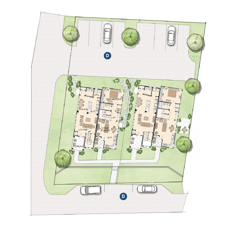 site plan for infill housing development Black Mountain Cottages