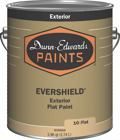 can of low-VOC Dunn-Edwards acrylic paint
