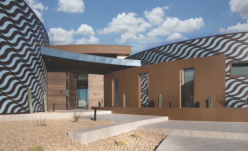 new-american-home-2020-desert-home-exterior-entry-curved walls