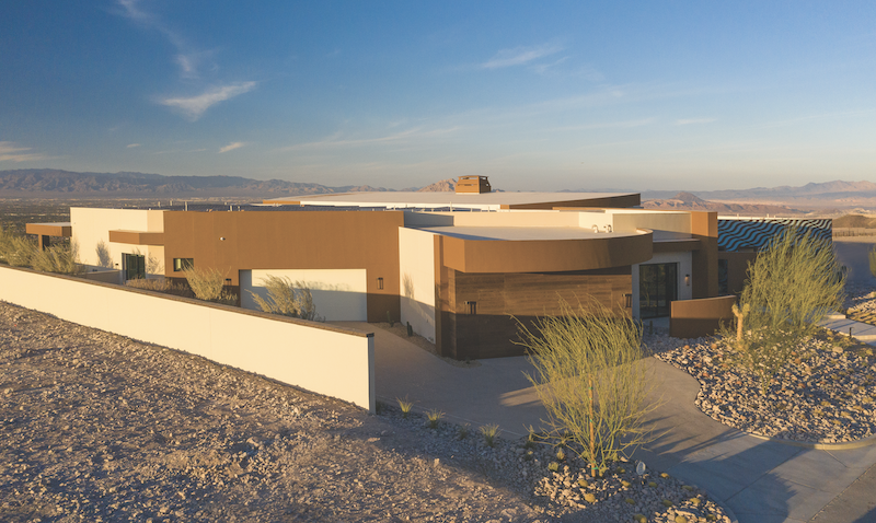 The New American Home 2020 desert home exterior view including roof