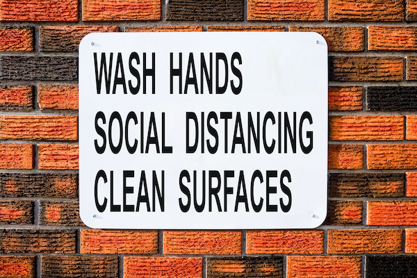 Sign wash hands