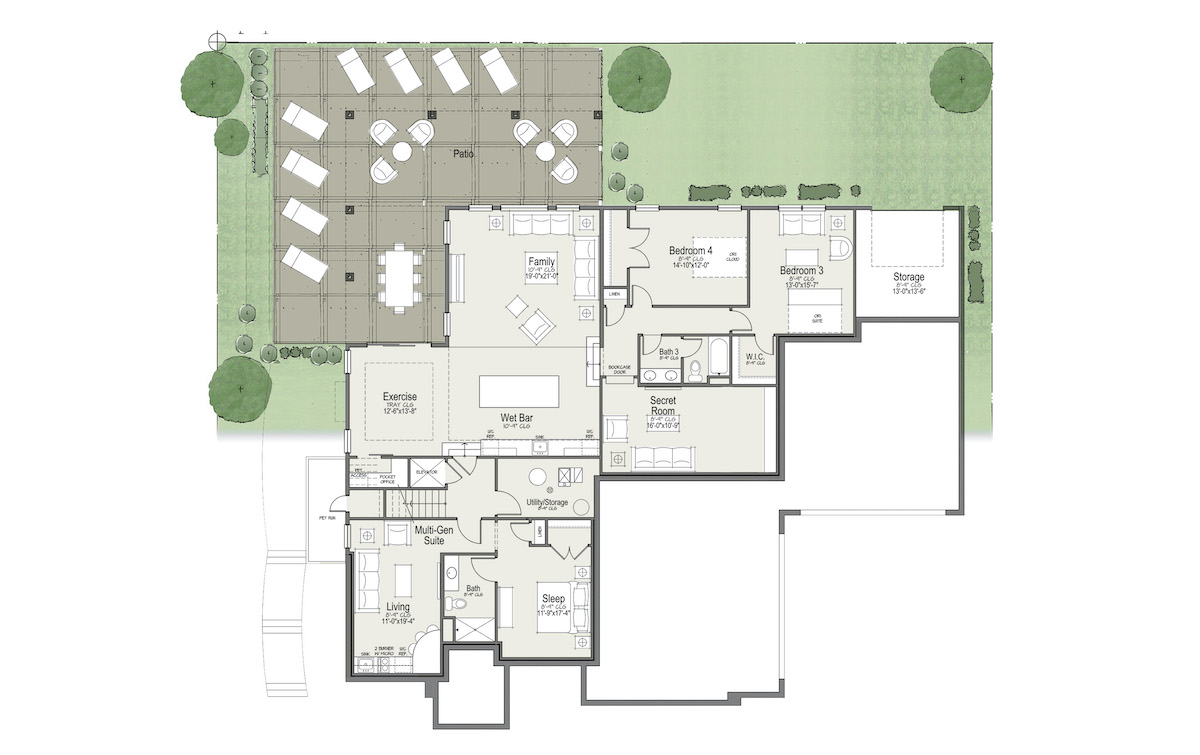 thoughtful home lower floor plan