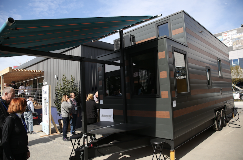 tiny house by Duany Plater-Zyberk & Co. at the 2020 International Builders' Show