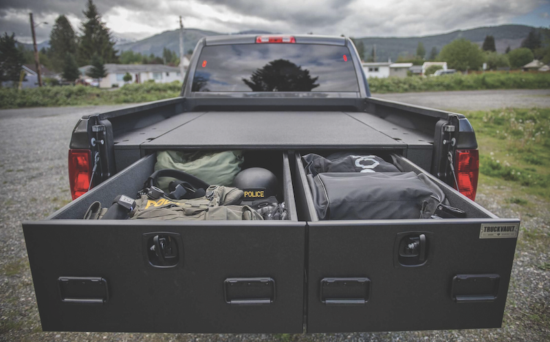 The Magnum 2 Drawer by TruckVault is a carpeted series for covered pickup beds.
