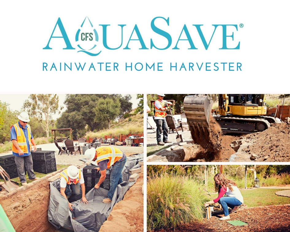 California Filtration Specialists AquaSave Rainwater Home Harvester
