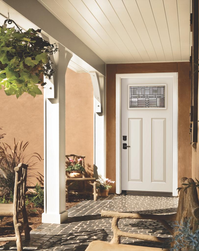 Jeld-wen exterior steel white door