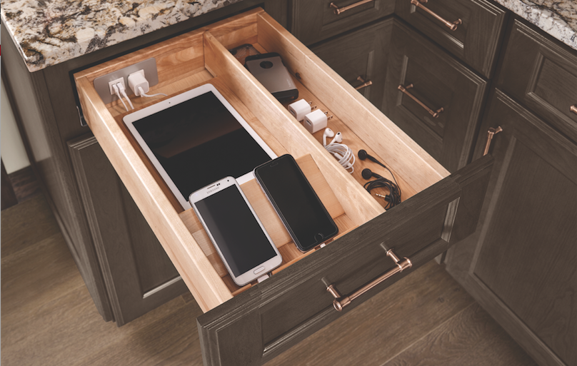 KraftMaid charging drawer for electronics.png