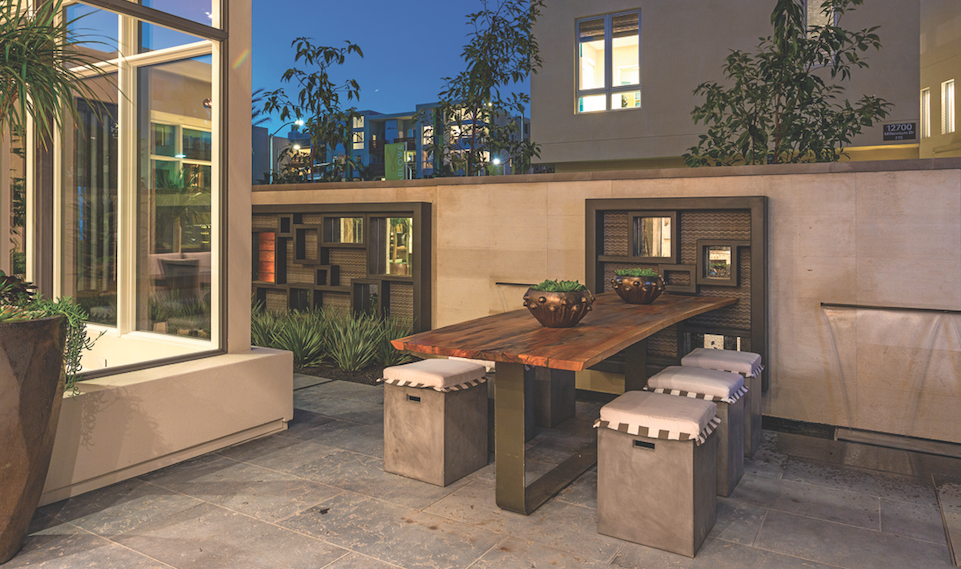 Robert Hidey Archutects-Jewel at Playa Vista, Residence I-outdoor living-photo courtesy Brookfield Residential