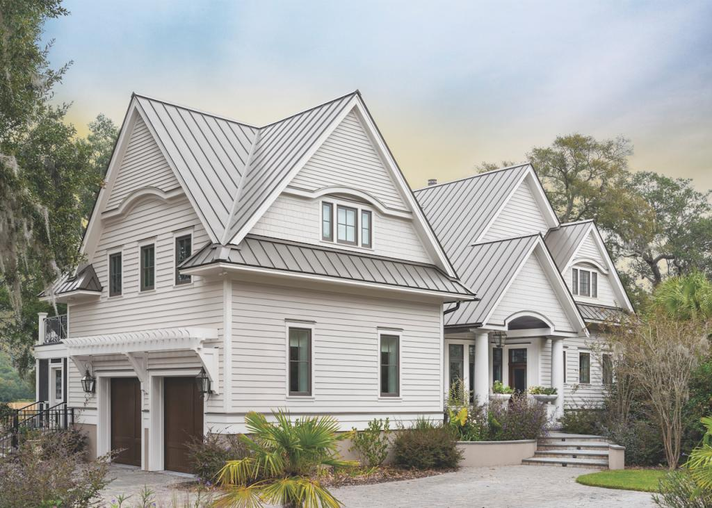 The fiber-cement Aspyre Collection from James Hardie (above) brings together traditional profiles with a fully customizable panel and trim system.