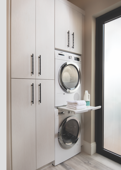 Washer and dryer area, The New American Home 2018