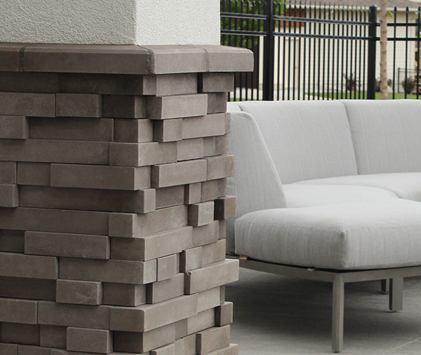 Boral's Cultured Stone is made of lightweight aggregate materials