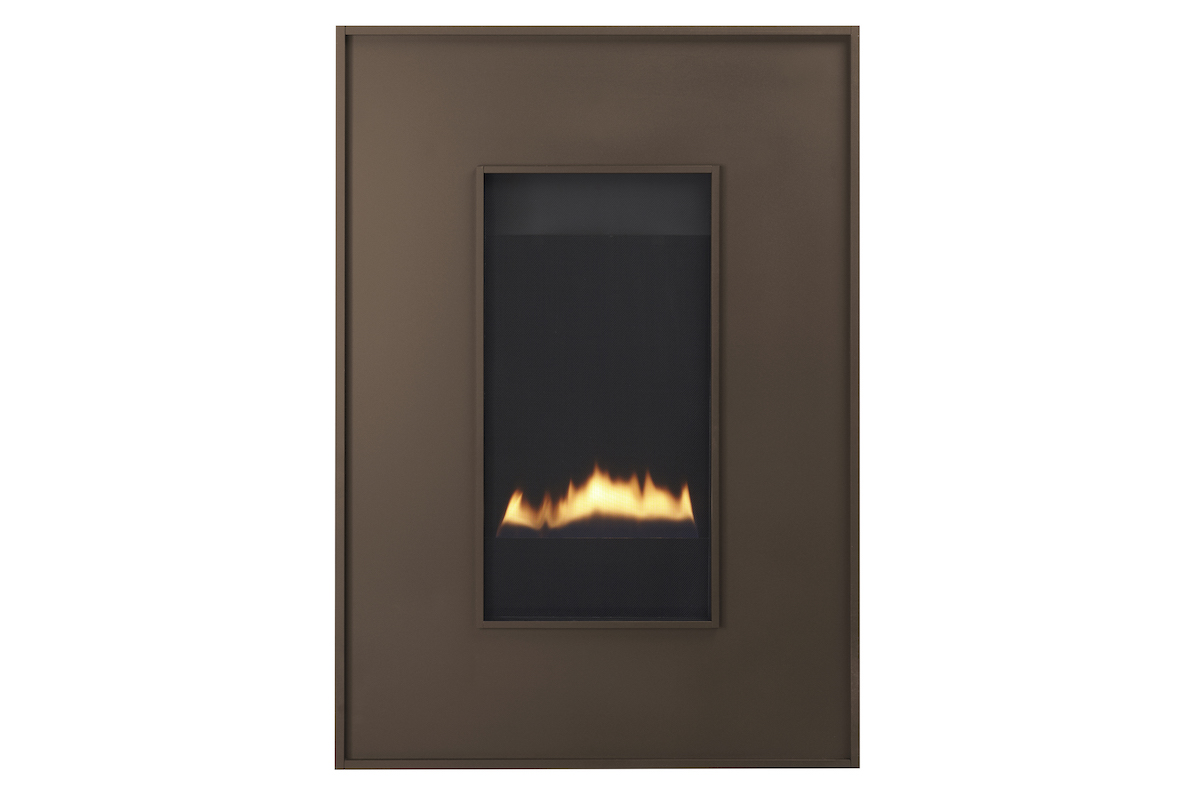 Heat & Glo REVO Direct Vent gas fireplaces can be hung on the wall or recessed in-wall to save space and eliminate the need for a chase