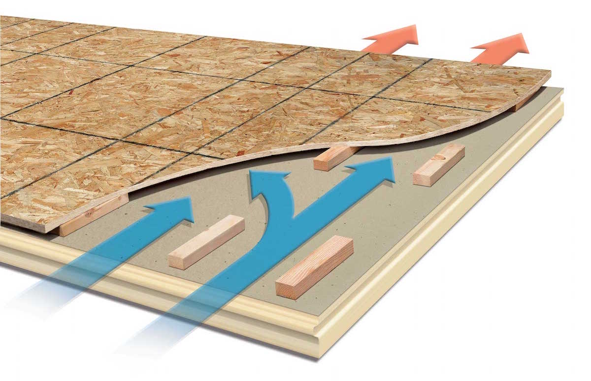 100 tongue and groove roof sheathing 3 4 in x 4 ft x 8 for Roof sheathing material