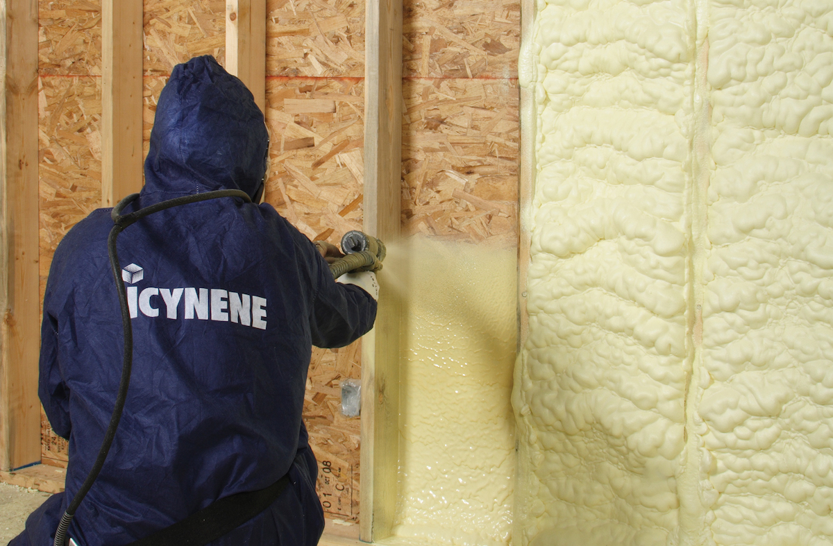 Icynene manufactures a range of foam insulation products guaranteed to perform for the life of the building