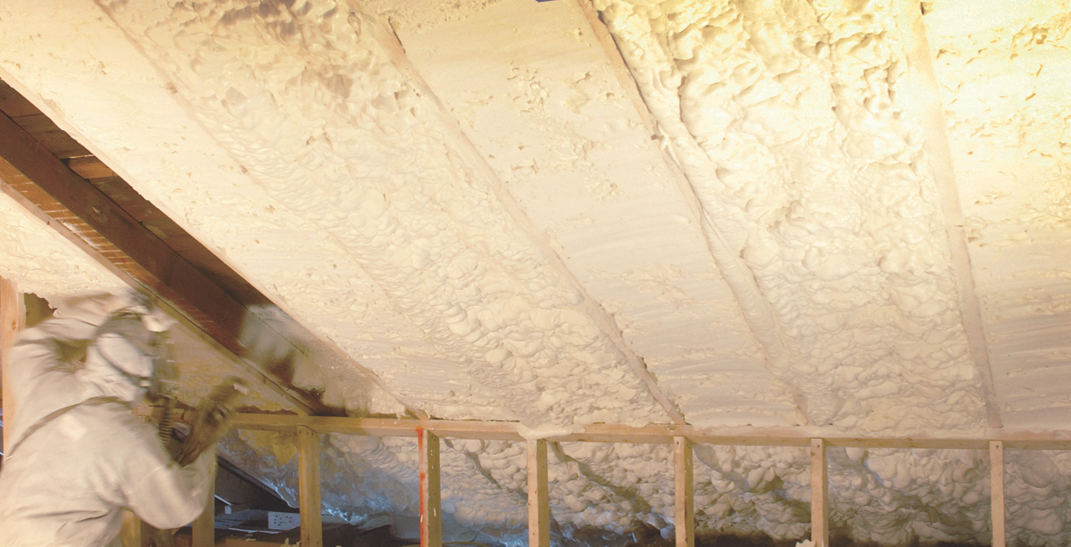 Icynene's Classic Max spray foam insulation is an open-cell, low-VOC foam that is GreenGuard Gold certified