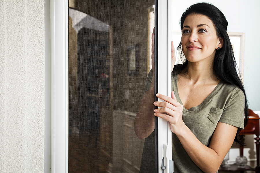 ODL's Brisa Retractable Screen Door features the EZ-Glide Control System