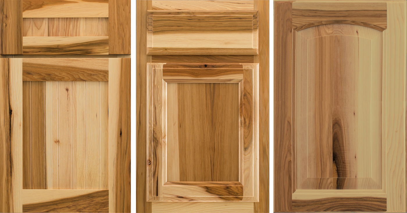 Wellborn Cabinet makes several full-overlay, cope, and tenon door styles in the hickory wood species