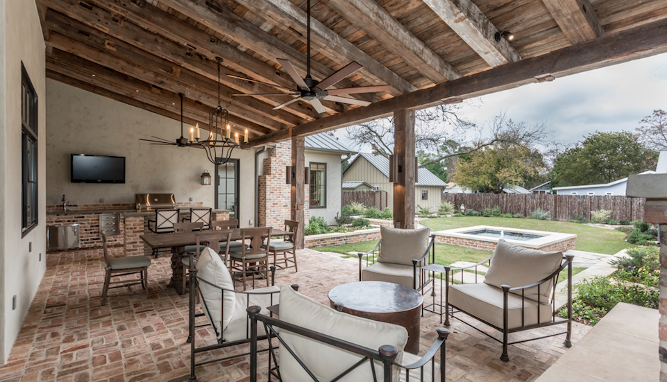 Laughlin Homes + Restoration-covered back porch-Texas