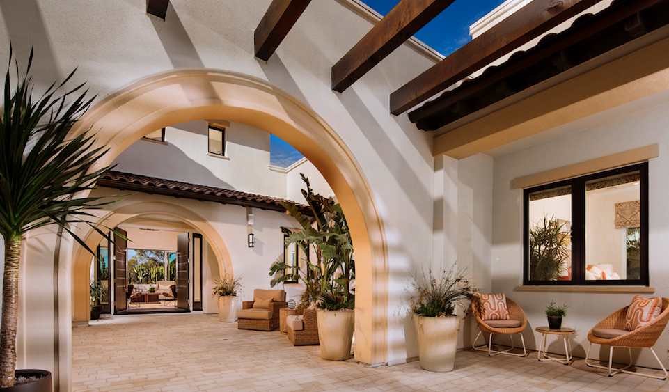 Residence One at Artesana-Pardee Homes-entry loggia