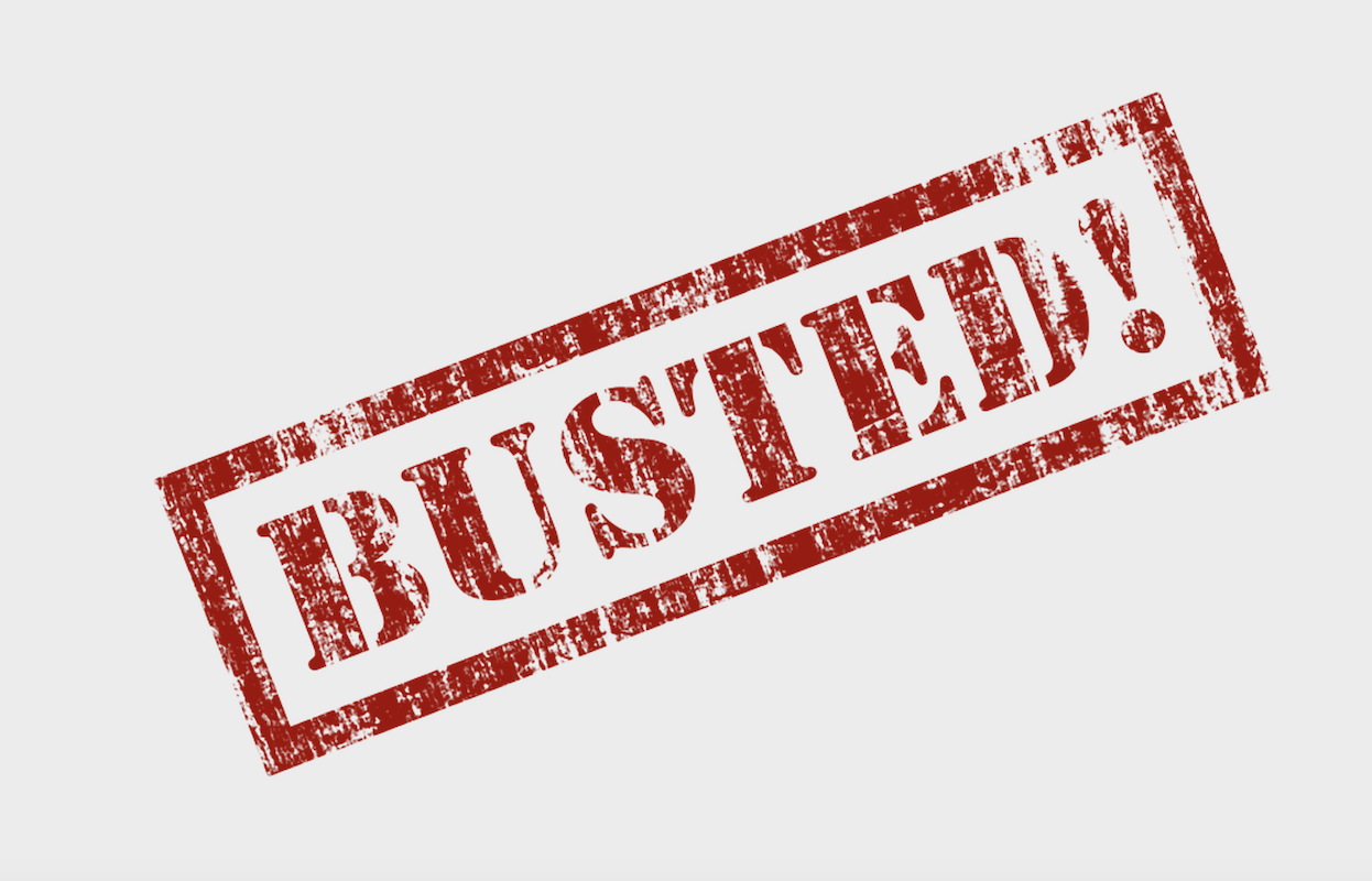 Busted! sign for 10 Lean building myths that have been busted