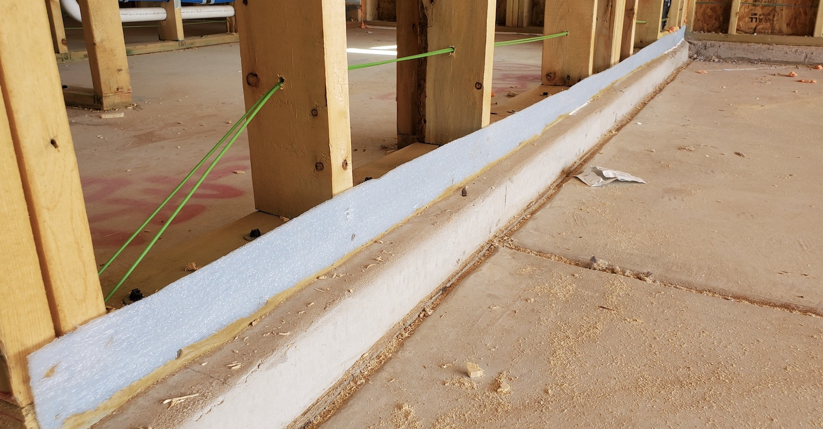 Sill plate gaskets help prevent moisture in walls.