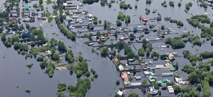 flooded homes natural disaster