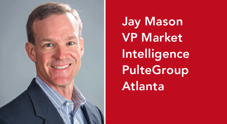 Jay Mason is PulteGroup's VP of market intelligence