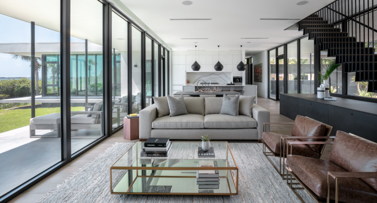 2019 professional builder design awards project of the year kitchen and living room