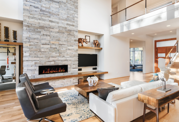 Modern Flames FusionFire fireplace in living room