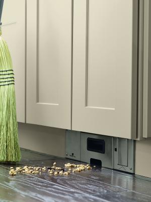 The Toekick Vacuum From Diamond Cabinetry Is Like High Tech Version Of Sweeping Something Under Rug Activated By A Foot Operated Switch
