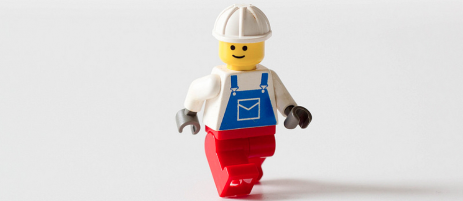 Lego workers are ageless, but the the median age of a construction worker is 41.
