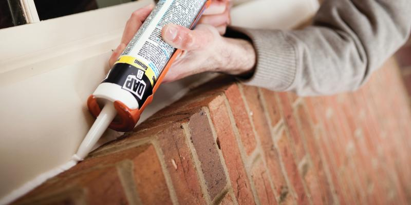 Using caulk to conserve energy