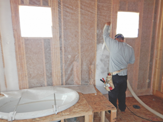 For better r values blow in the insulation professional for Batt insulation r values