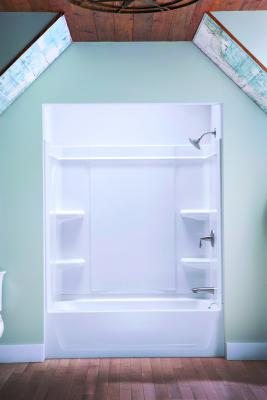 This Bath/shower Unit From Sterling Is Made Up Of Modular Panels Connected  With Dry Block Seal; No Caulk Is Needed. The Entire Unit Is Made Of  Vikrell, ...