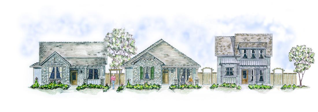 Centerview Cottages elevations Larry Garnett Designs