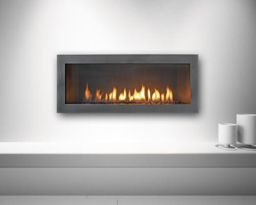 Designed As A Clean And Elegant Fireplace For Modern Setting The Cosmo From Heat Glo Has Linear Design Long Ribbon Flame Delivers Up To