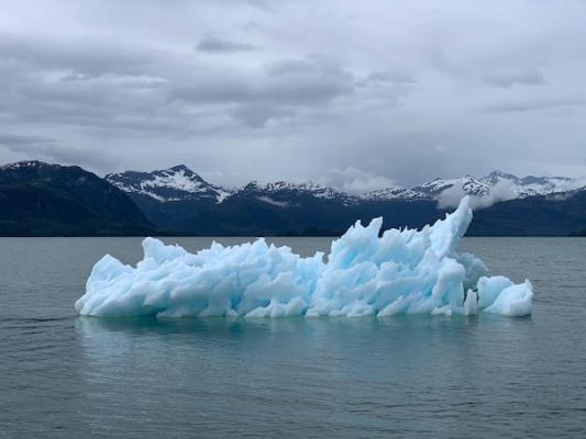 iceberg floating in water affected by climate change