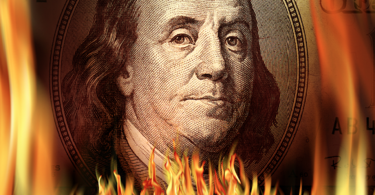 money on fire_insanity_financial waste