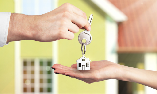 home sales handoff of keys