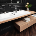 Reflecting trends toward minimalist and modern styling, the DXV Modulus Collection of bath fixtures, faucets, furniture and accessories allow for flexibility in installation and homeowners' personal preferences.