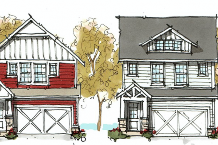 Elevation options for the Catie house plan by TK Design & Associates