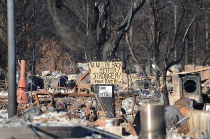 rebuilding after wildfire in Coffey Park, California