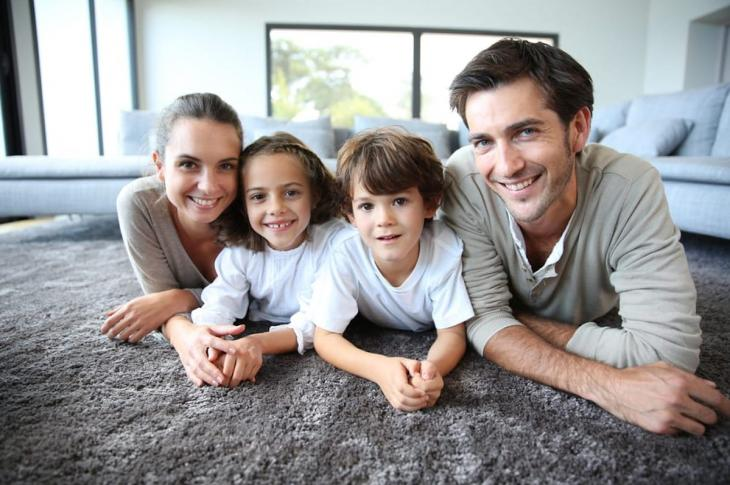 family enjoying healthy indoor air quality