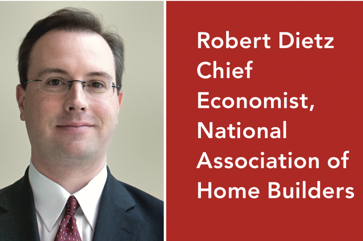 NAHB's chief economist Robert Dietz talks about the economy